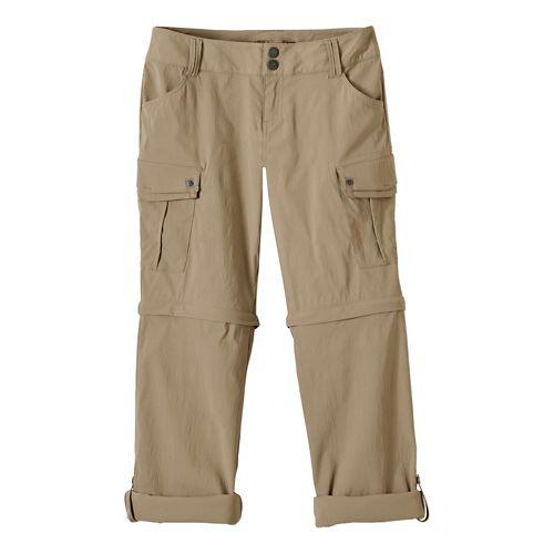 Womens Prana Sage Convertible Pants - Dark Khaki 4-T
