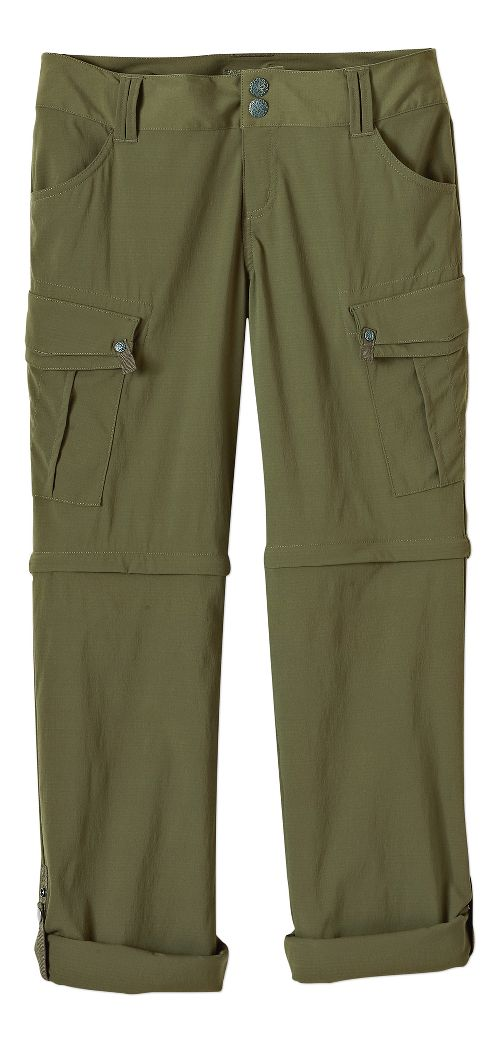 Womens Prana Sage Convertible Pants - Cargo Green 10-T