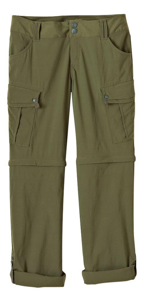 Womens Prana Sage Convertible Pants - Cargo Green 8-S