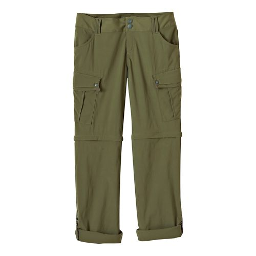 Womens Prana Sage Convertible Pants - Cargo Green 14