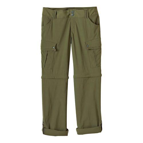 Womens Prana Sage Convertible Pants - Cargo Green 8-T