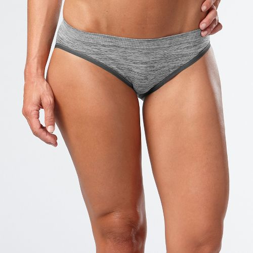 Womens R-Gear Undercover Seamless Printed Hipster Bikini Underwear Bottoms - Charcoal/Dove Grey L