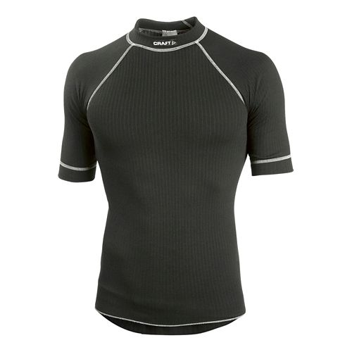 Men's Craft Active Crewneck Short Sleeve Technical Top - Black XXL