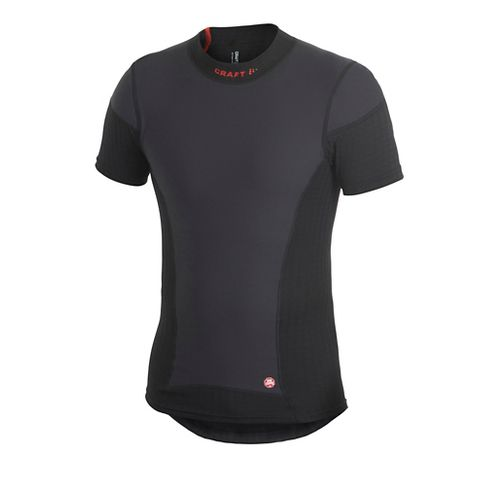 Men's Craft Active Extreme WS Short Sleeve Technical Top - Black/Platinum M