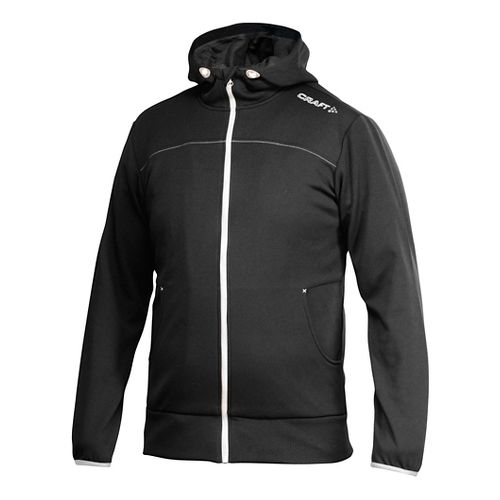 Men's Craft Leisure Full-Zip Warm Up Hooded Jackets - Black/Platinum XL