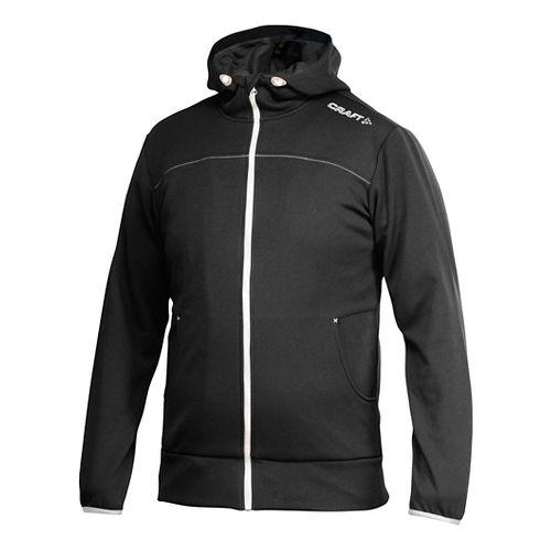 Men's Craft Leisure Full-Zip Warm Up Hooded Jackets - Black/Platinum XS