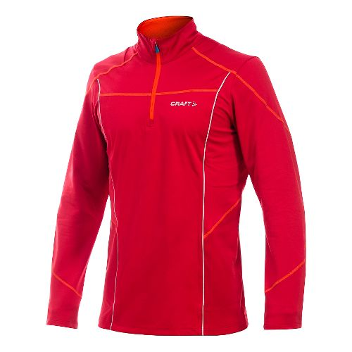 Men's Craft PR Thermal Wind Long Sleeve Half Zip Technical Top - Magma M