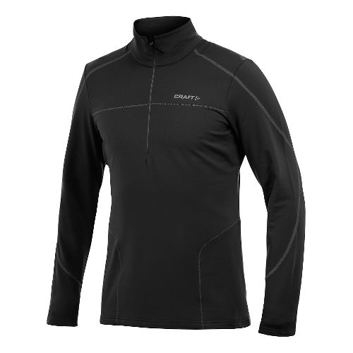 Men's Craft Thermal Stretch Pullover Long Sleeve Half Zip Technical Top - Black L
