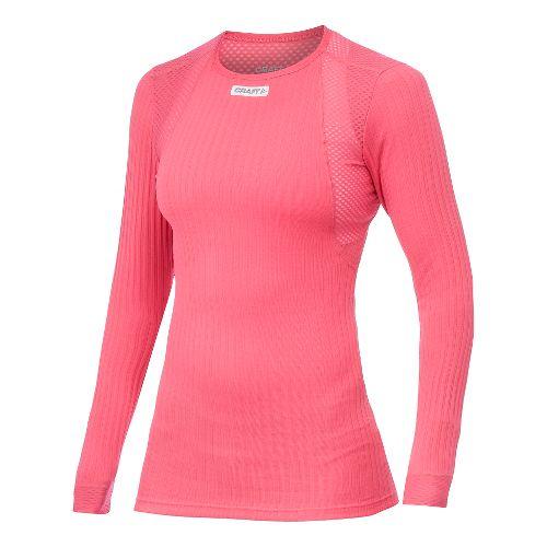 Women's Craft Active Extreme Concept Piece Long Sleeve No Zip Technical Top - Hibiscus M ...