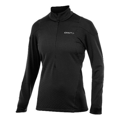 Women's Craft Shaped Lightweight Pullover Long Sleeve Half Zip Technical Top - Black XXL