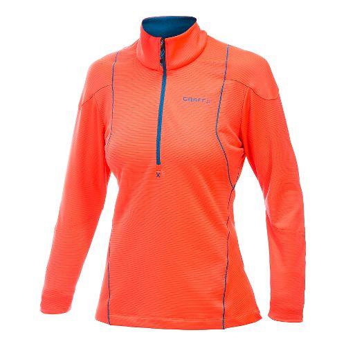 Women's Craft Shaped Lightweight Pullover Long Sleeve Half Zip Technical Top - Shock S