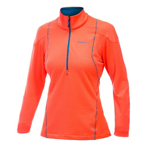 Women's Craft Shaped Lightweight Pullover Long Sleeve Half Zip Technical Top - Shock XXL