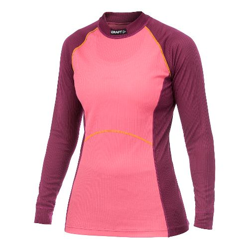 Women's Craft Active Multi 2-Pack Colorblocking Long Sleeve Technical Top - Bordeaux XS