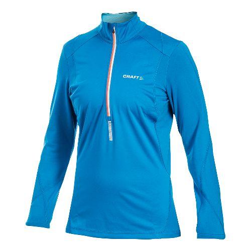 Women's Craft PR Thermal Wind Long Sleeve Half Zip Technical Top - Hibiscus XS