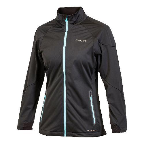 Women's Craft PXC Light Softshell Lightweight Jackets - Black XL