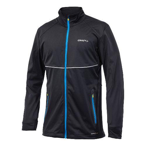Men's Craft PXC Softshell Lightweight Jackets - Black M