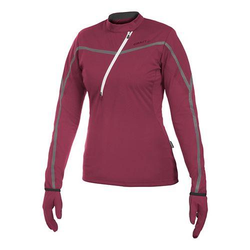 Women's Craft ER Wind Jersey Long Sleeve Half Zip Technical Top - Blossom XL