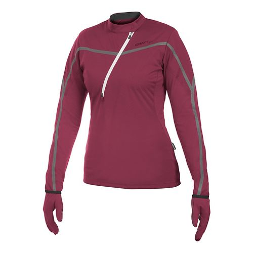 Women's Craft ER Wind Jersey Long Sleeve Half Zip Technical Top - Blossom XS