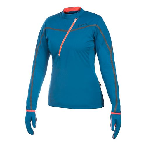 Women's Craft ER Wind Jersey Long Sleeve Half Zip Technical Top - Blossom M