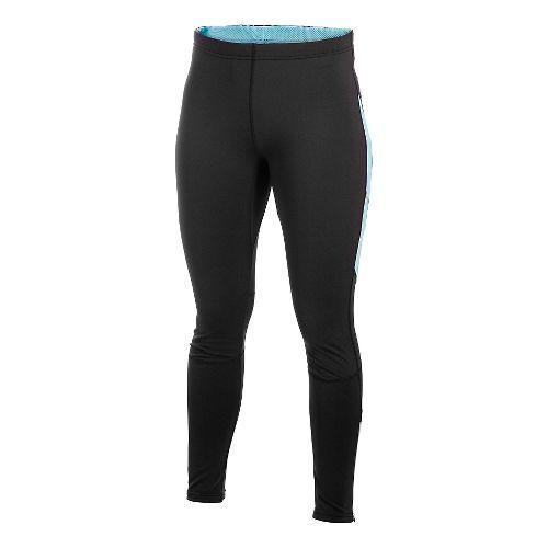 Women's Craft PR Thermal Full Length Tights - Black/Aquamarine M
