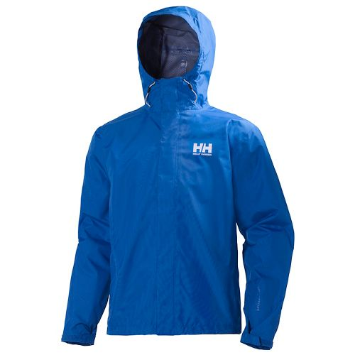 Mens Helly Hansen Seven J Rain Jackets - Cobalt Blue L