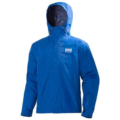 Mens Helly Hansen Seven J Rain Jackets - Cobalt Blue S