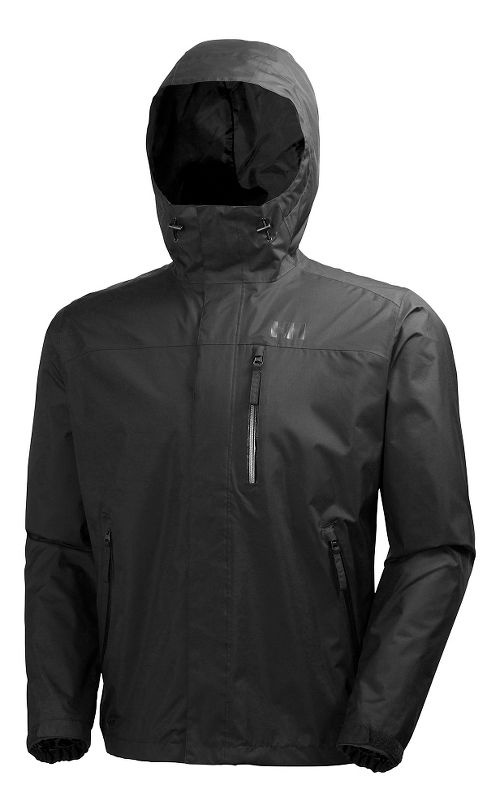 Mens Helly Hansen Vancouver Rain Jackets - Black M
