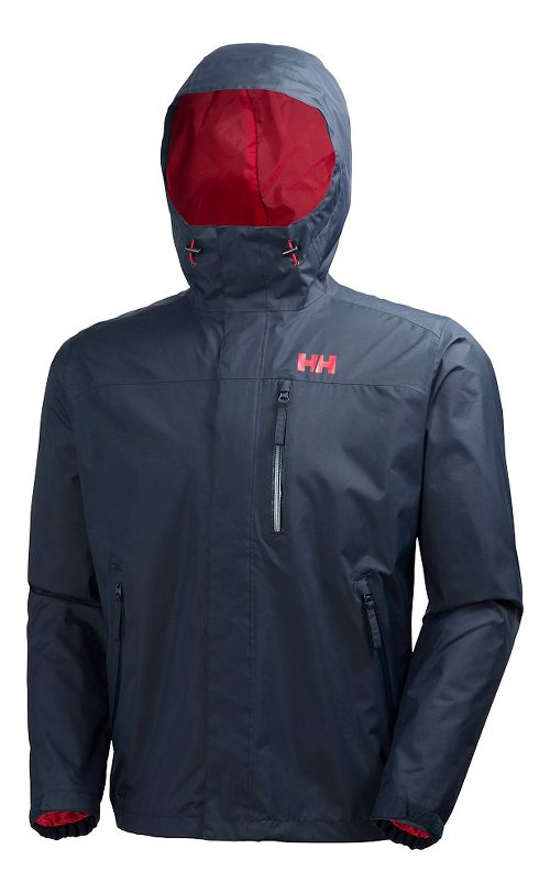 Mens Helly Hansen Vancouver Rain Jackets - Navy L