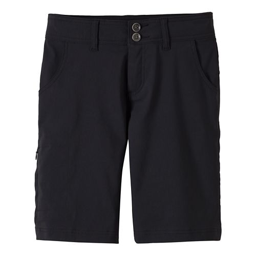 Womens Prana Halle Unlined Shorts - Black 4
