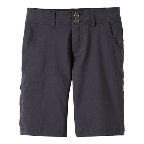 Womens Prana Halle Unlined Shorts - Coal 4