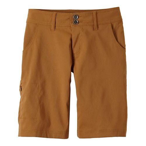 Womens Prana Halle Unlined Shorts - Dark Ginger 10