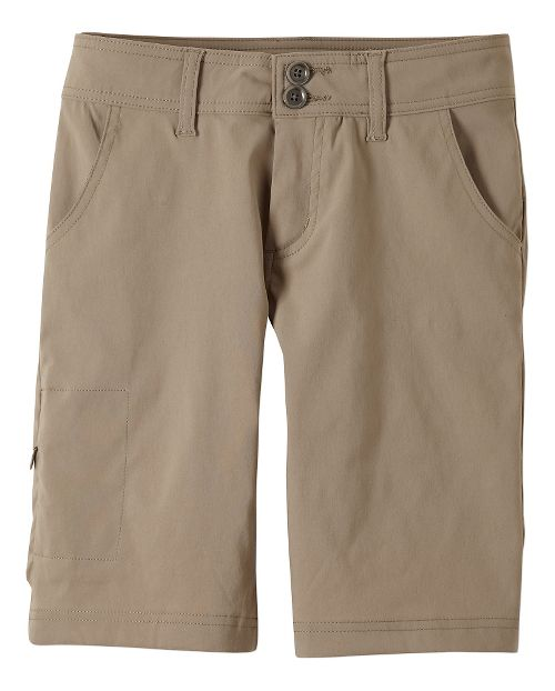 Womens Prana Halle Unlined Shorts - Dark Khaki 8
