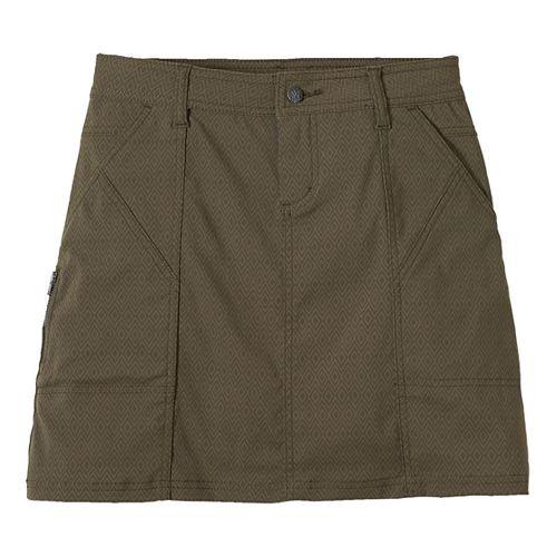 Womens Prana Monarch Fitness Skirts - Cargo Green Quartz OS