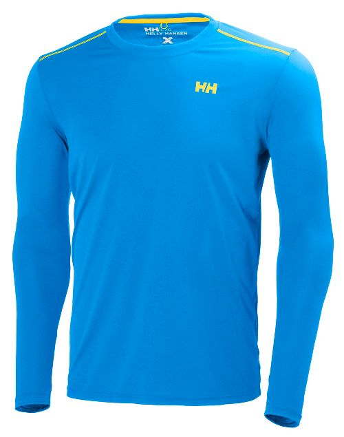 Mens Helly Hansen VTR Long Sleeve Technical Tops - Racer Blue S