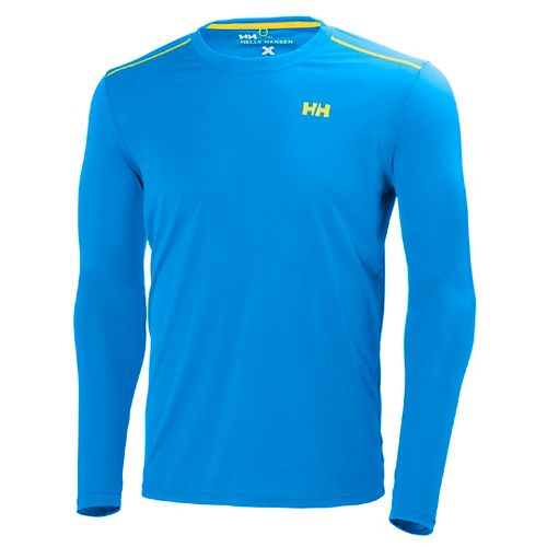 Mens Helly Hansen VTR Long Sleeve Technical Tops - Racer Blue XXL