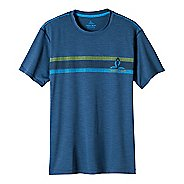 Mens prAna Calder Short Sleeve Technical Tops