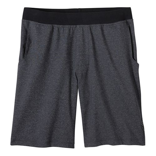 Mens prAna Mojo Chakara Unlined Shorts - Charcoal Heather L