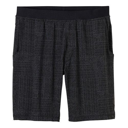 Mens prAna Mojo Chakara Unlined Shorts - Black/Black XXL