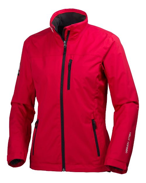Womens Helly Hansen Crew Midlayer Cold Weather Jackets - Red XL