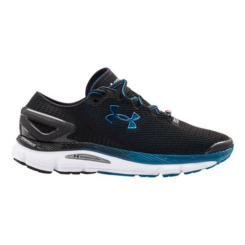 Mens Under Armour Speedform Gemini 2.1 Record Running Shoe - Black/White 10.5