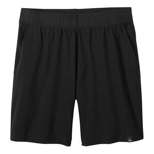 Mens prAna Overhold Lined Shorts - Black S