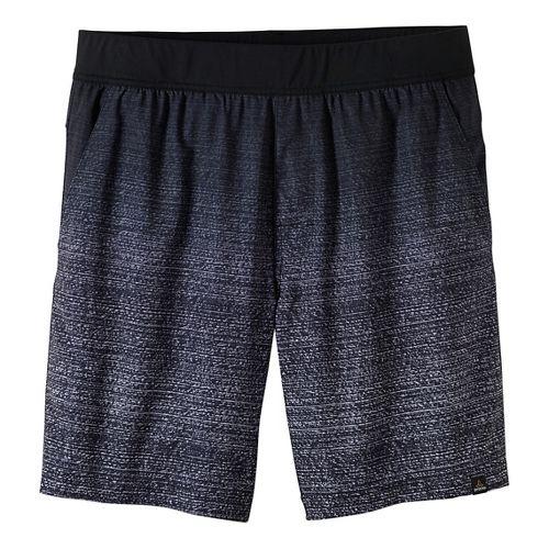 Mens prAna Overhold Lined Shorts - White L