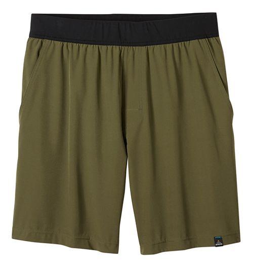 Mens prAna Overhold Lined Shorts - Cargo Green XL