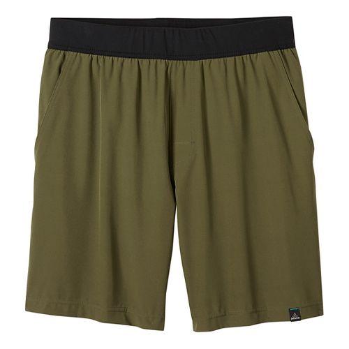Mens prAna Overhold Lined Shorts - Cargo Green L