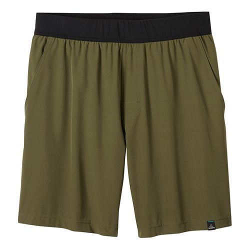 Mens prAna Overhold Lined Shorts - Cargo Green XL