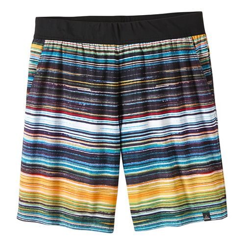 Mens prAna Overhold Lined Shorts - Jet Stream Print XL