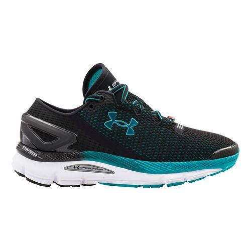 Womens Under Armour Speedform Gemini 2.1 Record Running Shoe - Black/White 10