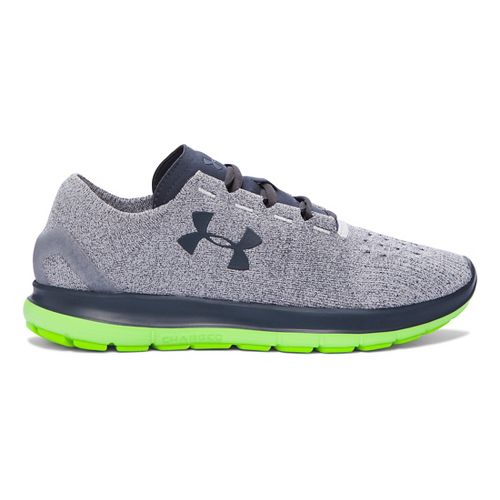 Mens Under Armour Speedform Slingride Running Shoe - Grey/Hyper Green 8.5