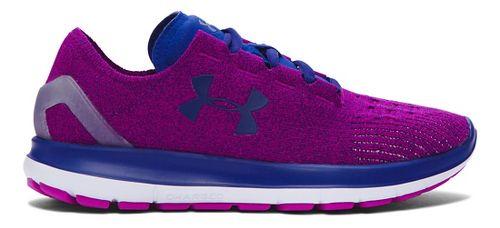 Womens Under Armour Speedform Slingride Running Shoe - Purple/Caspian 10
