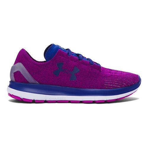 Womens Under Armour Speedform Slingride Running Shoe - Purple/Caspian 8.5